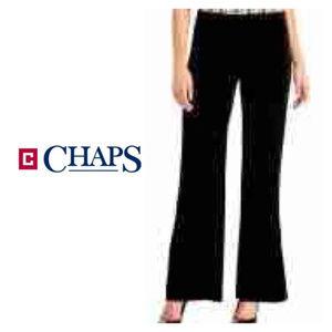 Womens Chaps Black Velvet Wide Leg Pants Sz 10 NWT